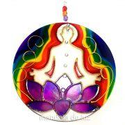 Mandala de Flor de Lotus Chakras 18cm