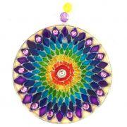 Mandala de Vidro Arco iris 10cm