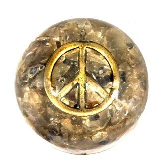 Orgonite Símbolo da Paz Citrino e Ônix Cobre
