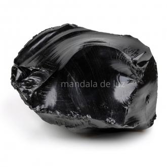 Pedra de Obsidiana Negra Bruta Cristal Natural