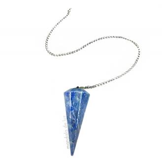 Pêndulo de Cristal de Quartzo Azul Pedra Natural