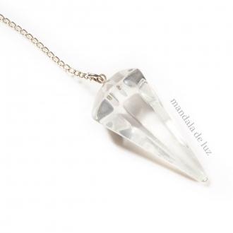 Pêndulo de Cristal de Quartzo Transparente Pedra Natural