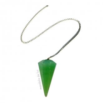 Pêndulo de Cristal de Quartzo Verde