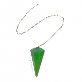 Pêndulo de Cristal de Quartzo Verde Pedra Natural