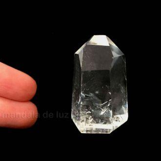 Ponta de Cristal Translúcido Pequeno Quartzo Transparente