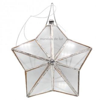 Prisma D'agua Estrela de 5 pontas 13cm