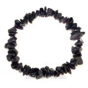 Pulseira de Cascalho de Obsidiana Negra