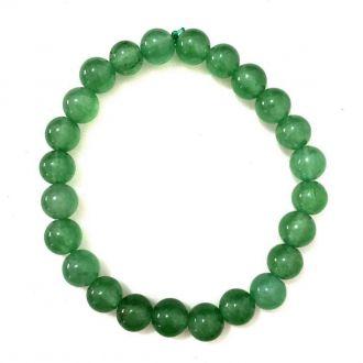 Pulseira de Esferas de Quartzo Verde