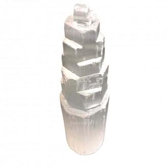 Torre de Selenita Pedra Natural 15cm
