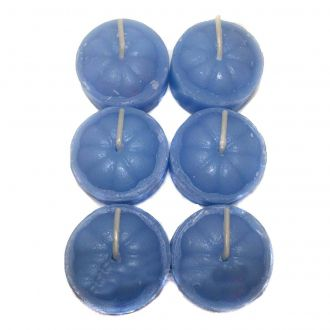 Velas Rechaud com 6 Und. Azul Claro