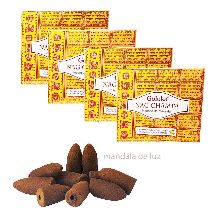 40 incensos - Cone Backflow Nag Champa Cascata Goloka