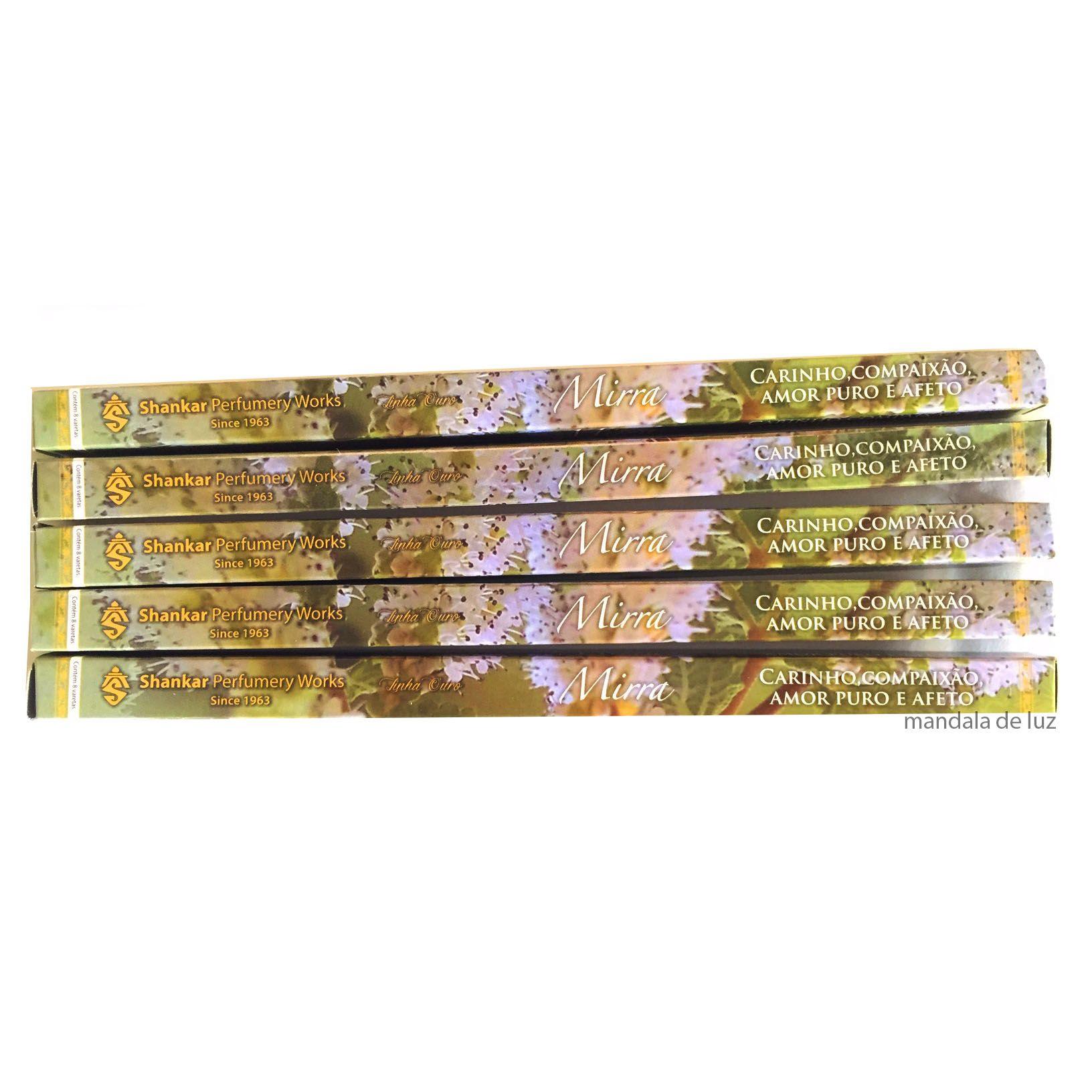 5 caixas de incensos Shankar Mirra - 40 varetas