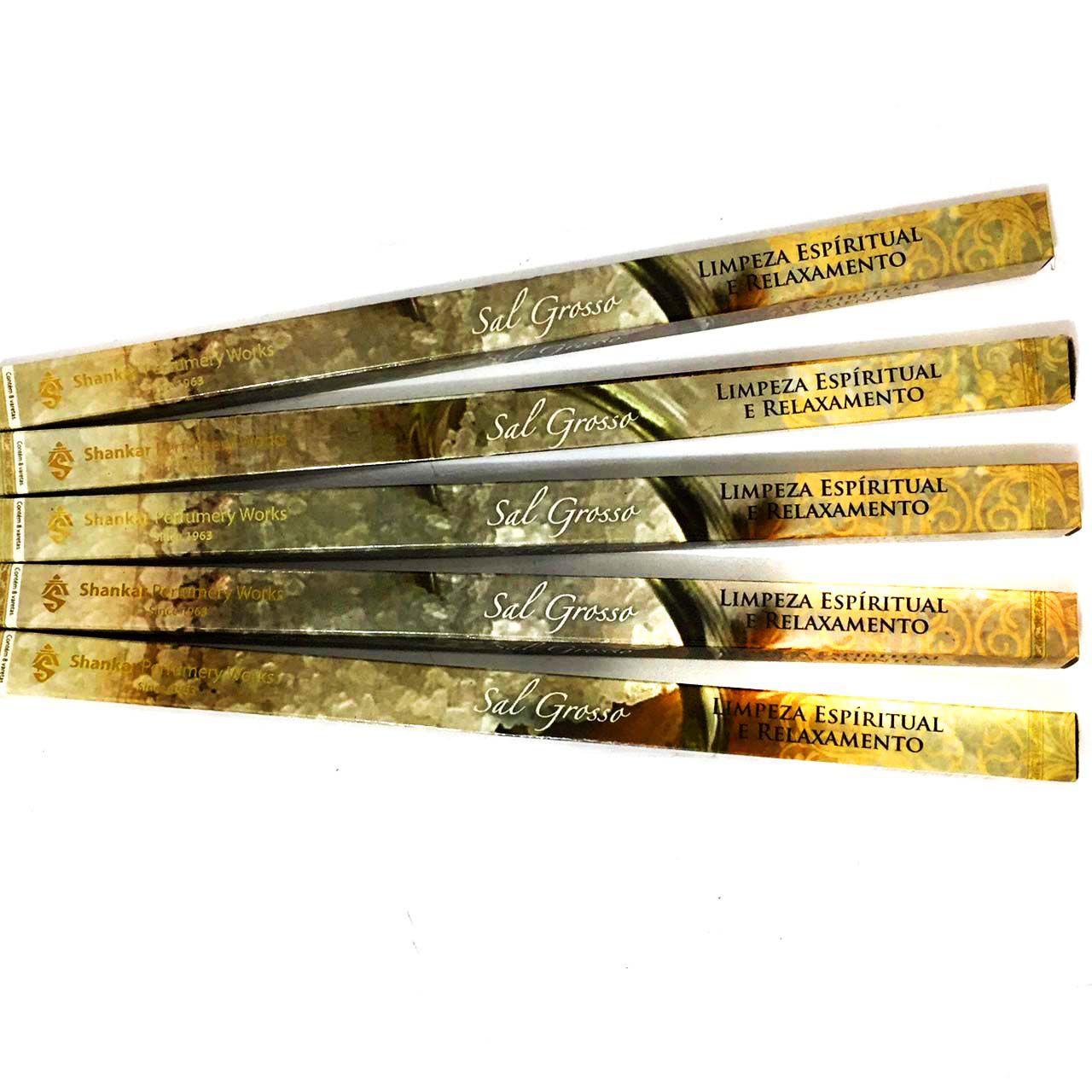 5 Caixas de Incensos Shankar Sal Grosso - 40 varetas