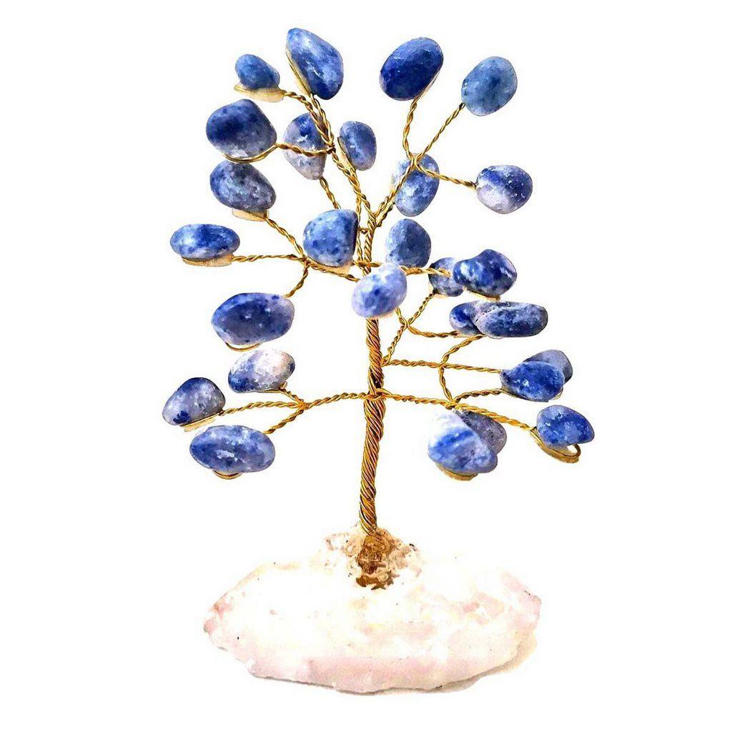 Árvore de Pedra Cristais Quartzo Azul 10cm