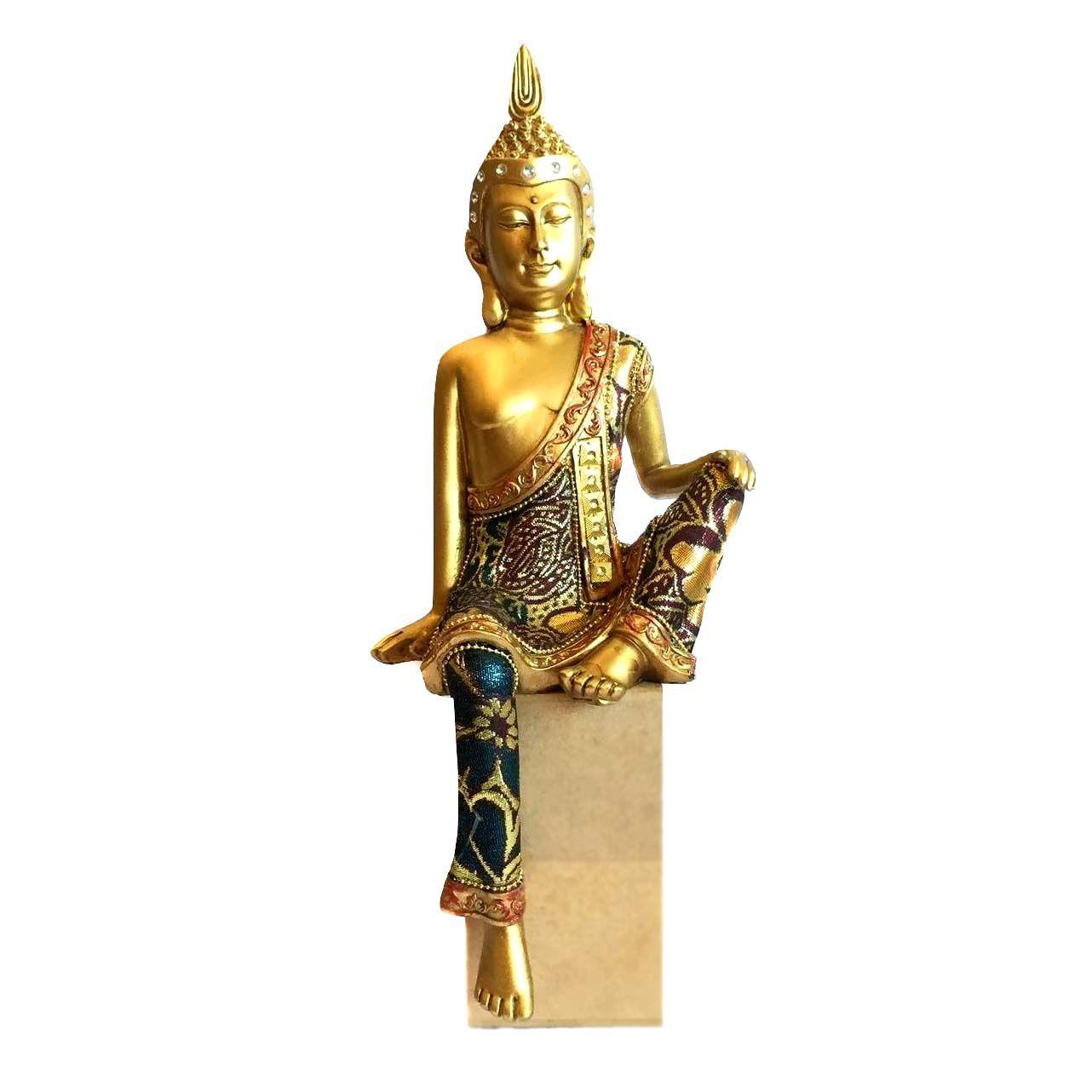 Buda Sentado Dourado 33cm