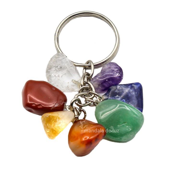 Chaveiro de 7 Pedras dos Chakras