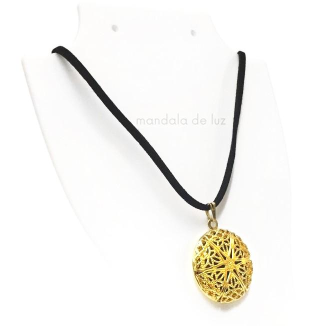 Colar Aromatizador Pessoal Aromático Difusor Cordão - Estrela Dourada