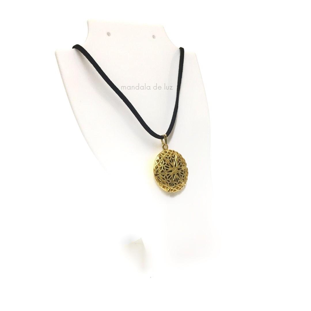 Colar Cordão Aromatizador Pessoal Aromático Difusor - Estrela Dourada