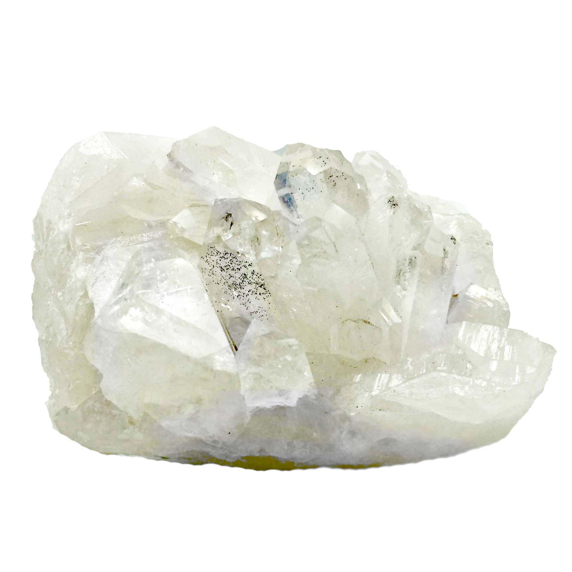 Drusa de Cristal Quartzo Transparente Branco Pontas Brutas G