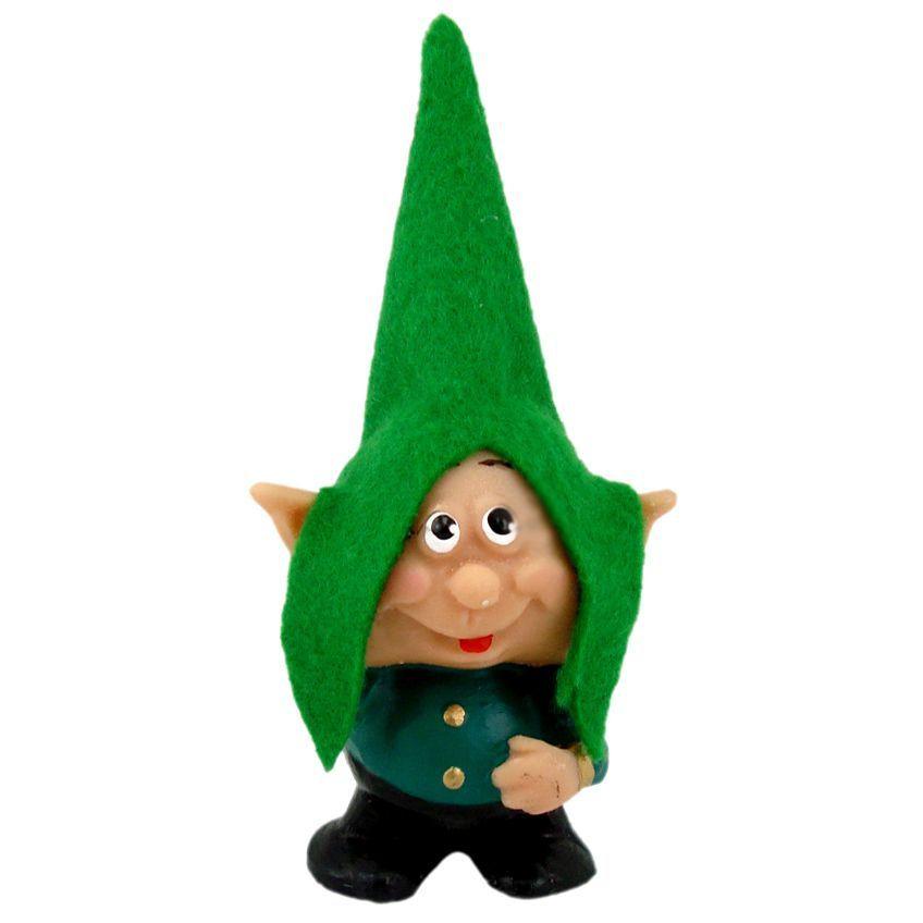 Estátua de Duende dos Desejos Ícaro - Gnomo Verde 10cm