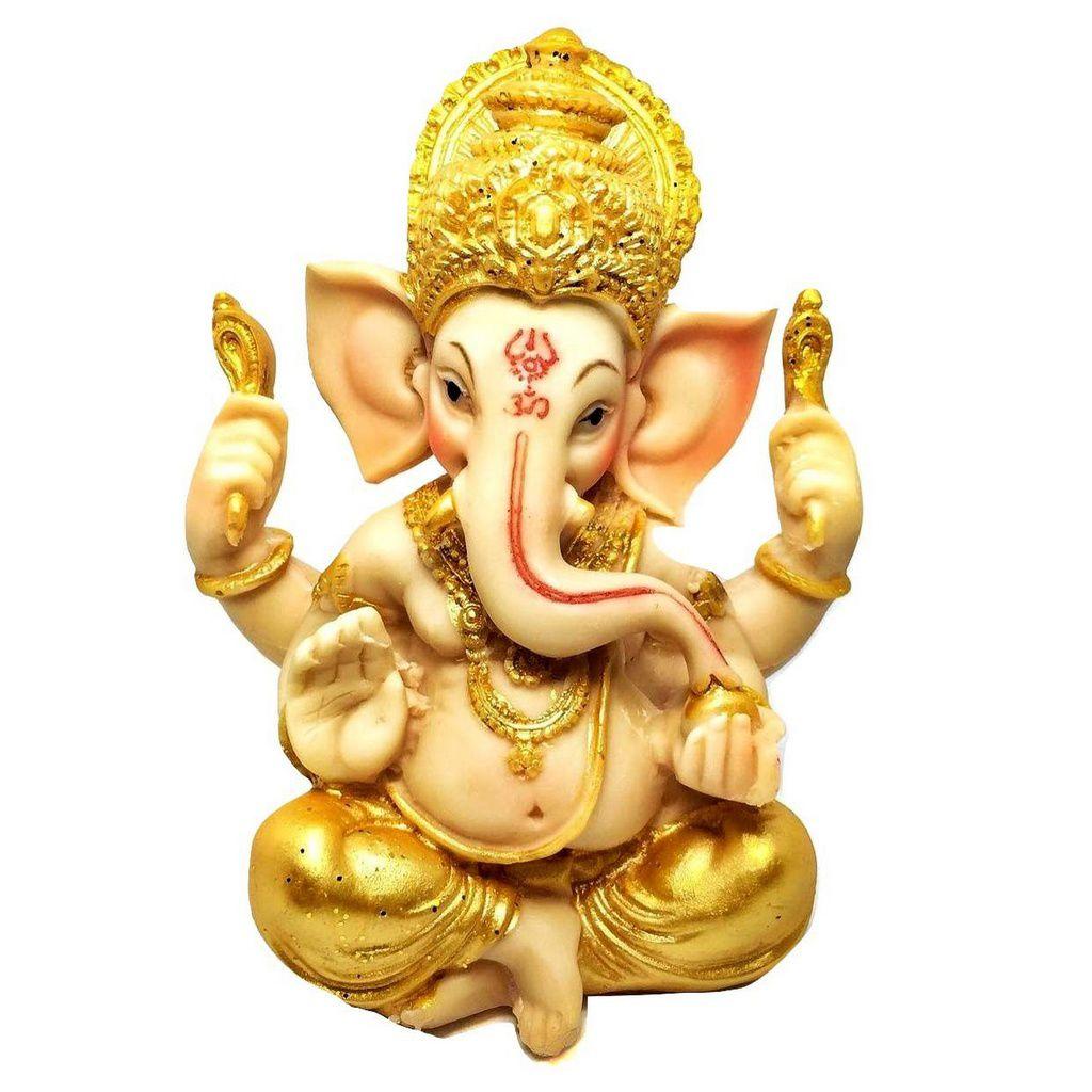 Estátua de Ganesha Colorido 14cm