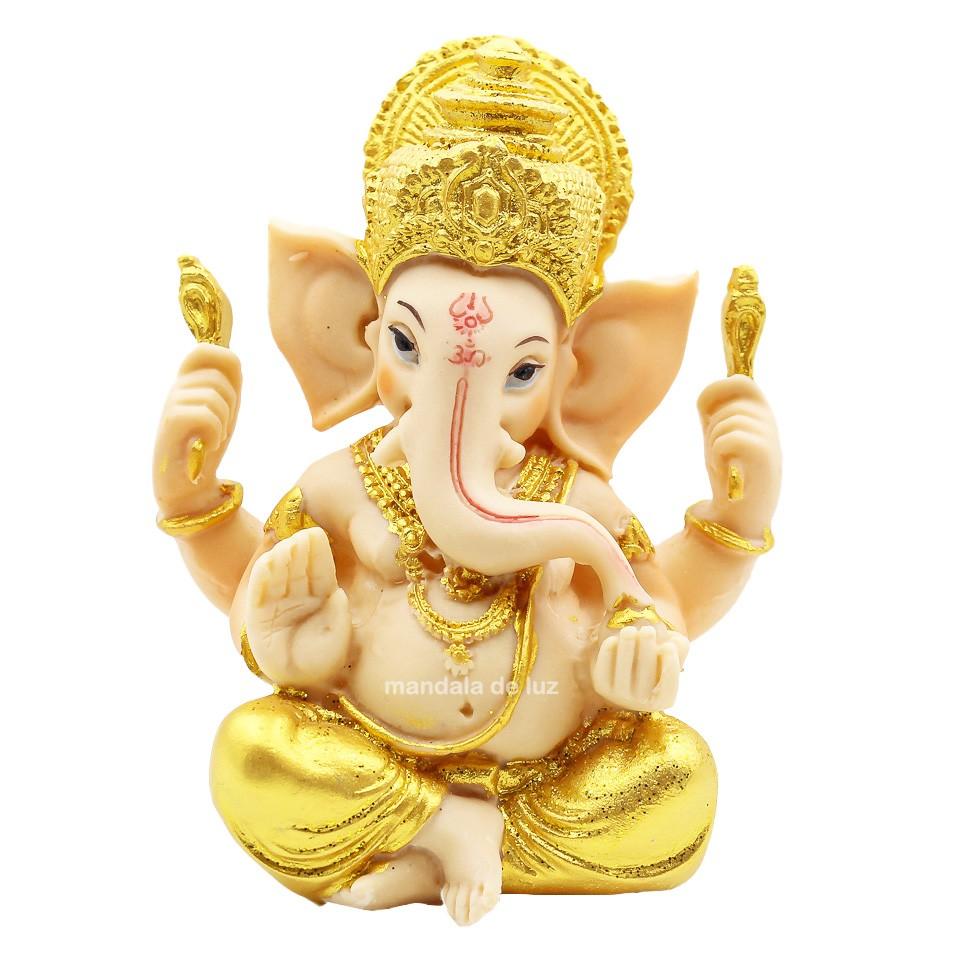 Estátua de Ganesha Colorido A Resina 14cm