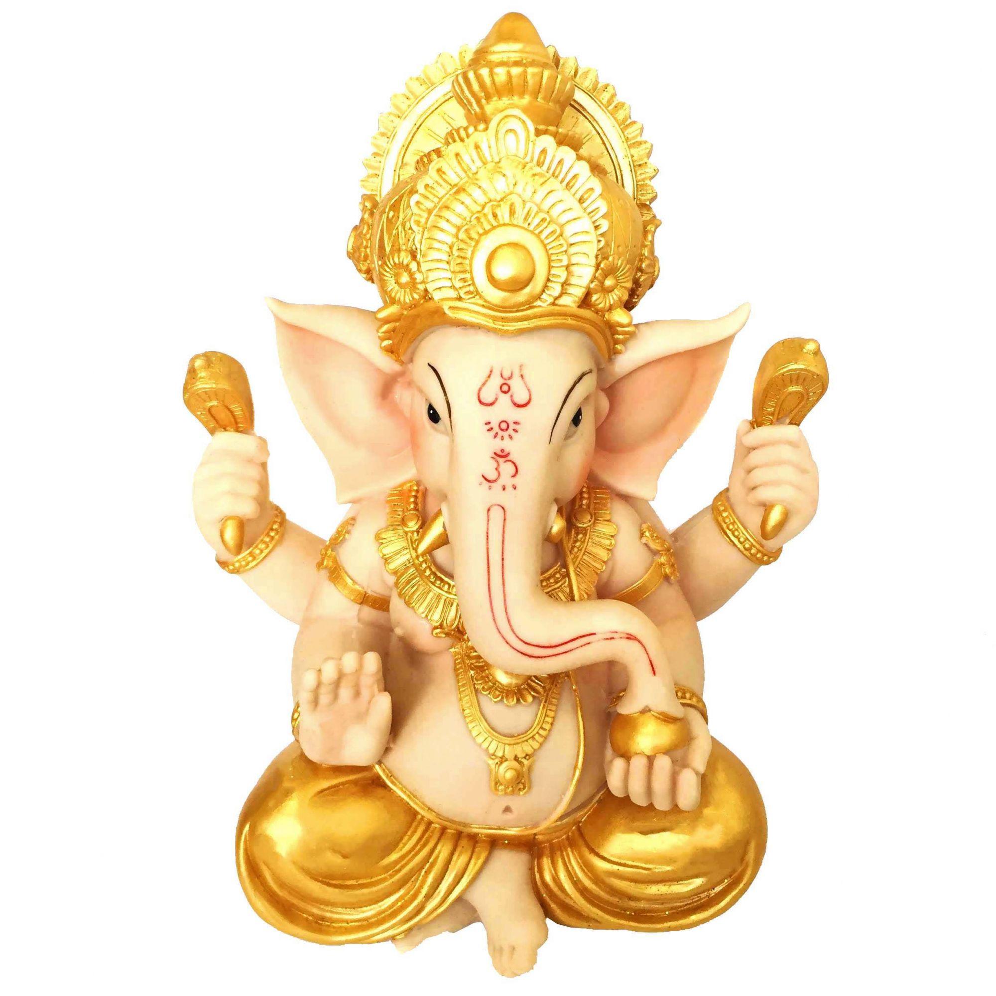 Estátua de Ganesha Colorido Grande 31cm