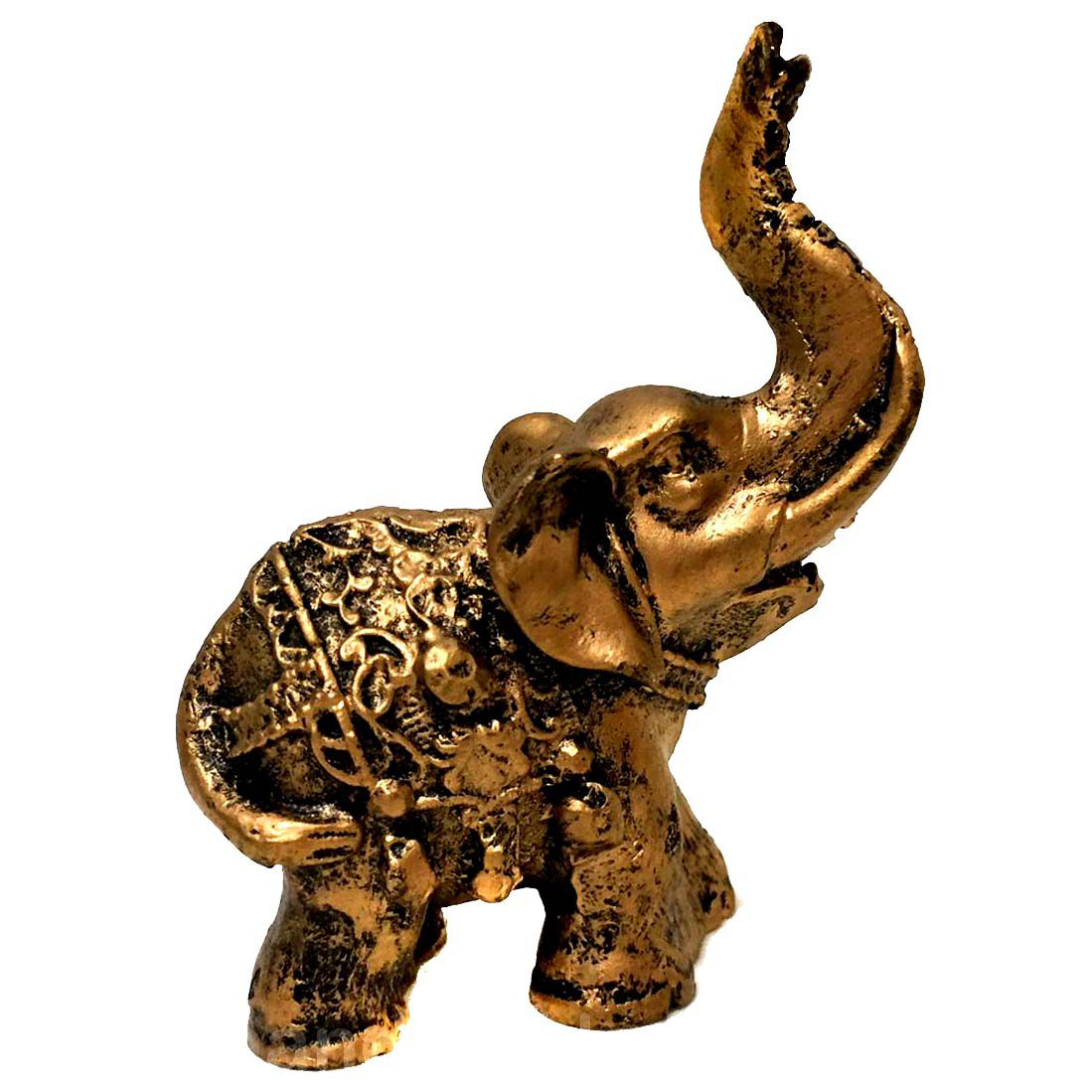 Estátua de Mini Elefante Indiano Resina 8cm