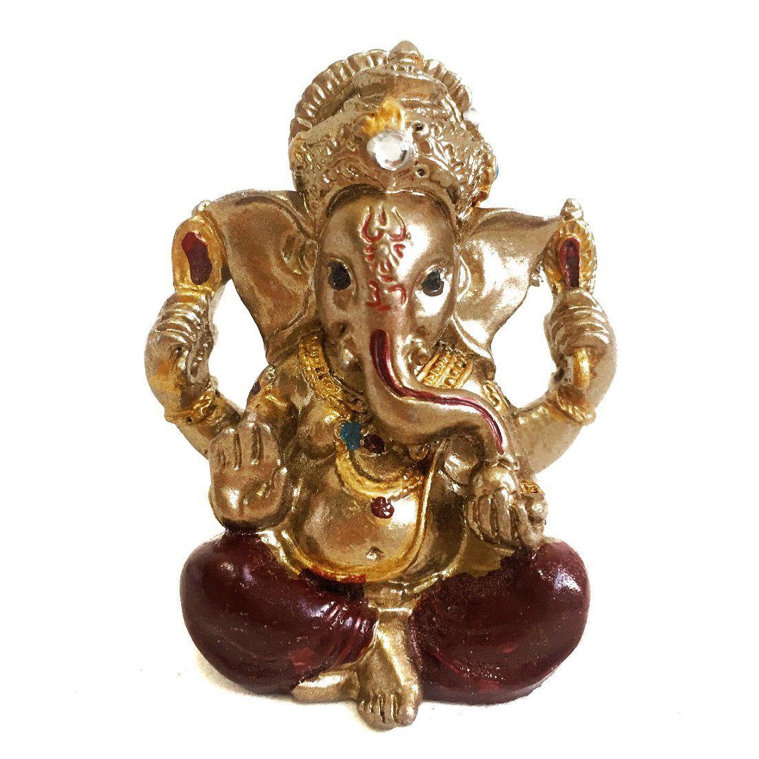 Estátua de Mini Ganesha Cores Sortidas Prosperidade 5cm