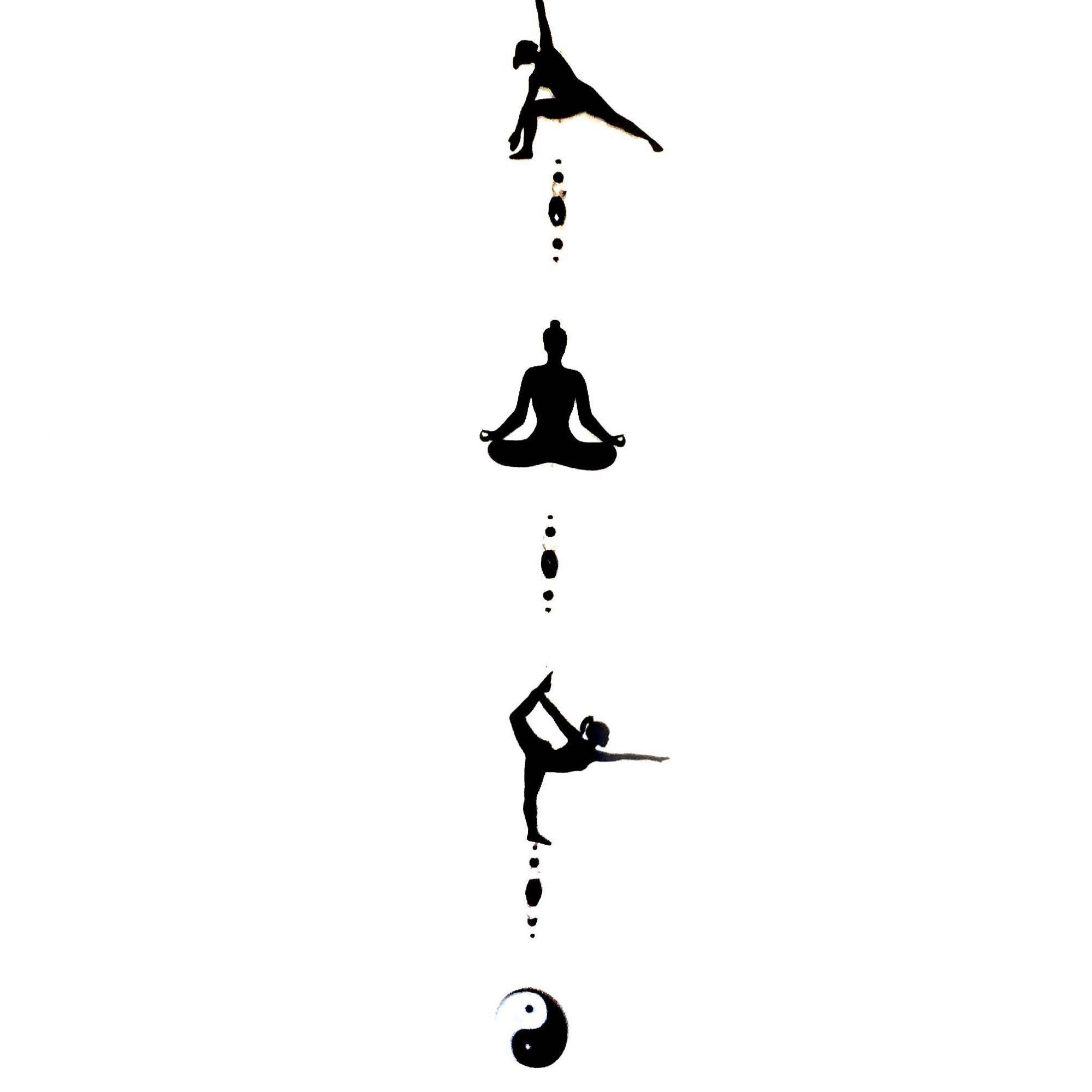 Fio de Luz Mobile Posições Yoga Yin Yang Preto Mobile