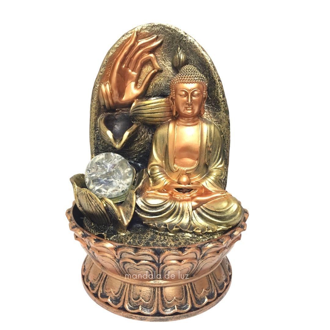 Fonte de Água Buda Hindu 3 Quedas Bivolt 28cm