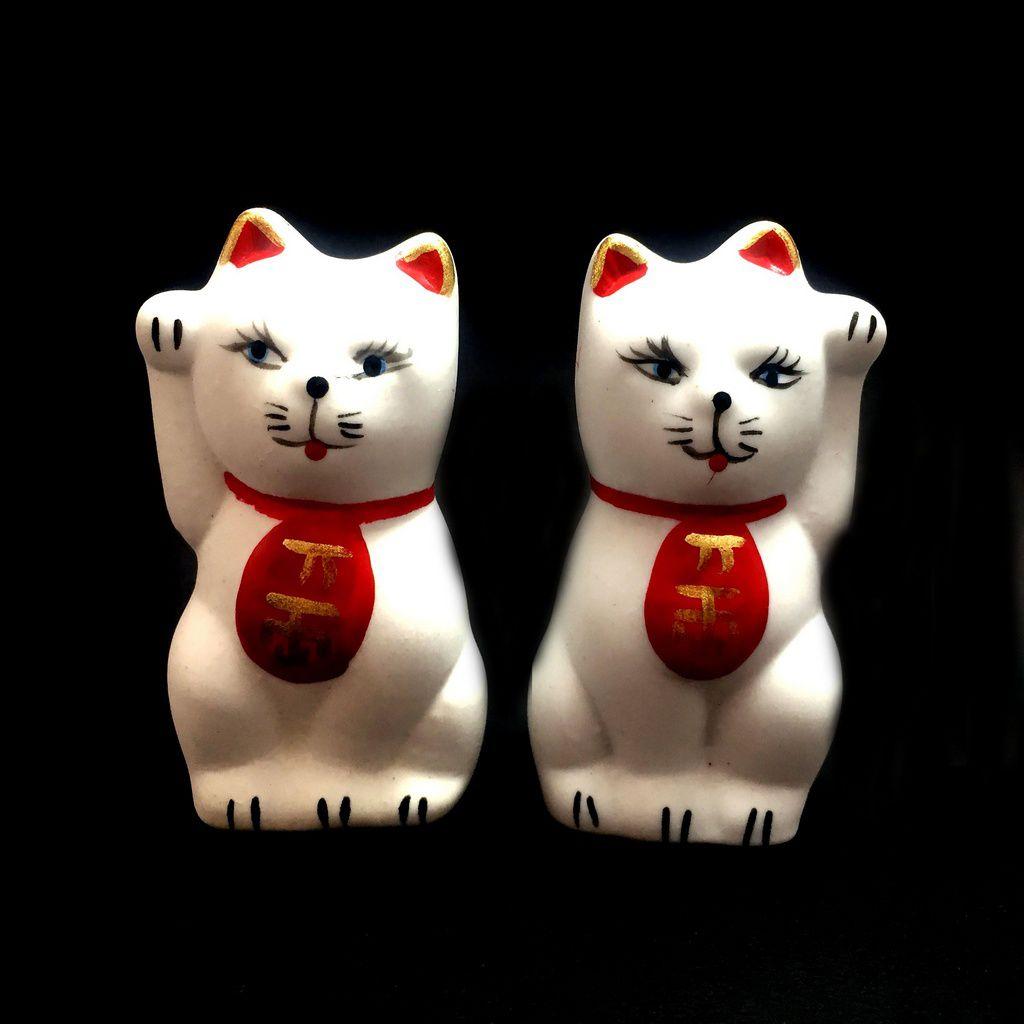 Dupla de Gato da Sorte - Maneki Neko