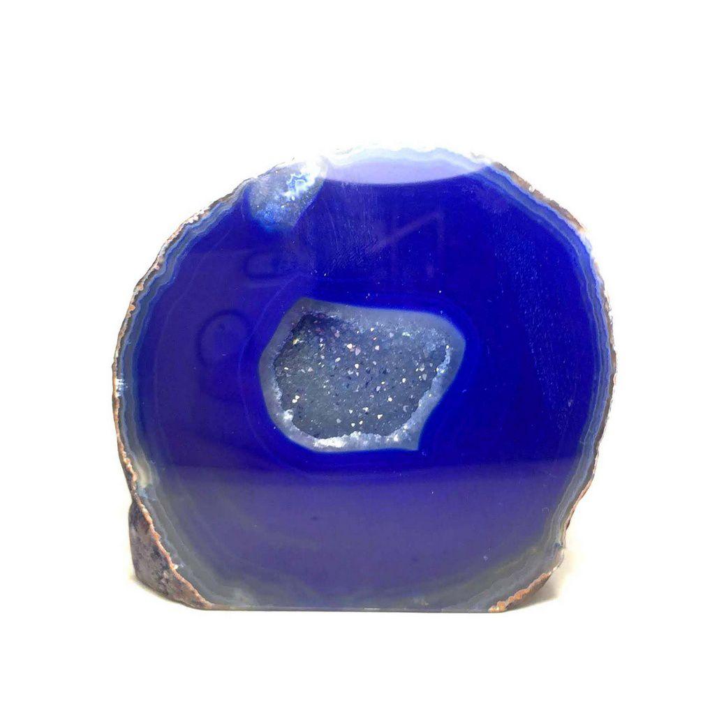 Geodo de Ágata Azul Escuro