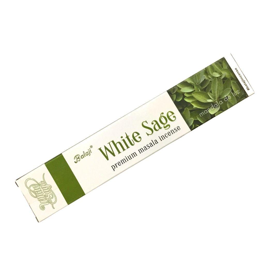 Incenso Sálvia Branca Balaji Massala - White Sage