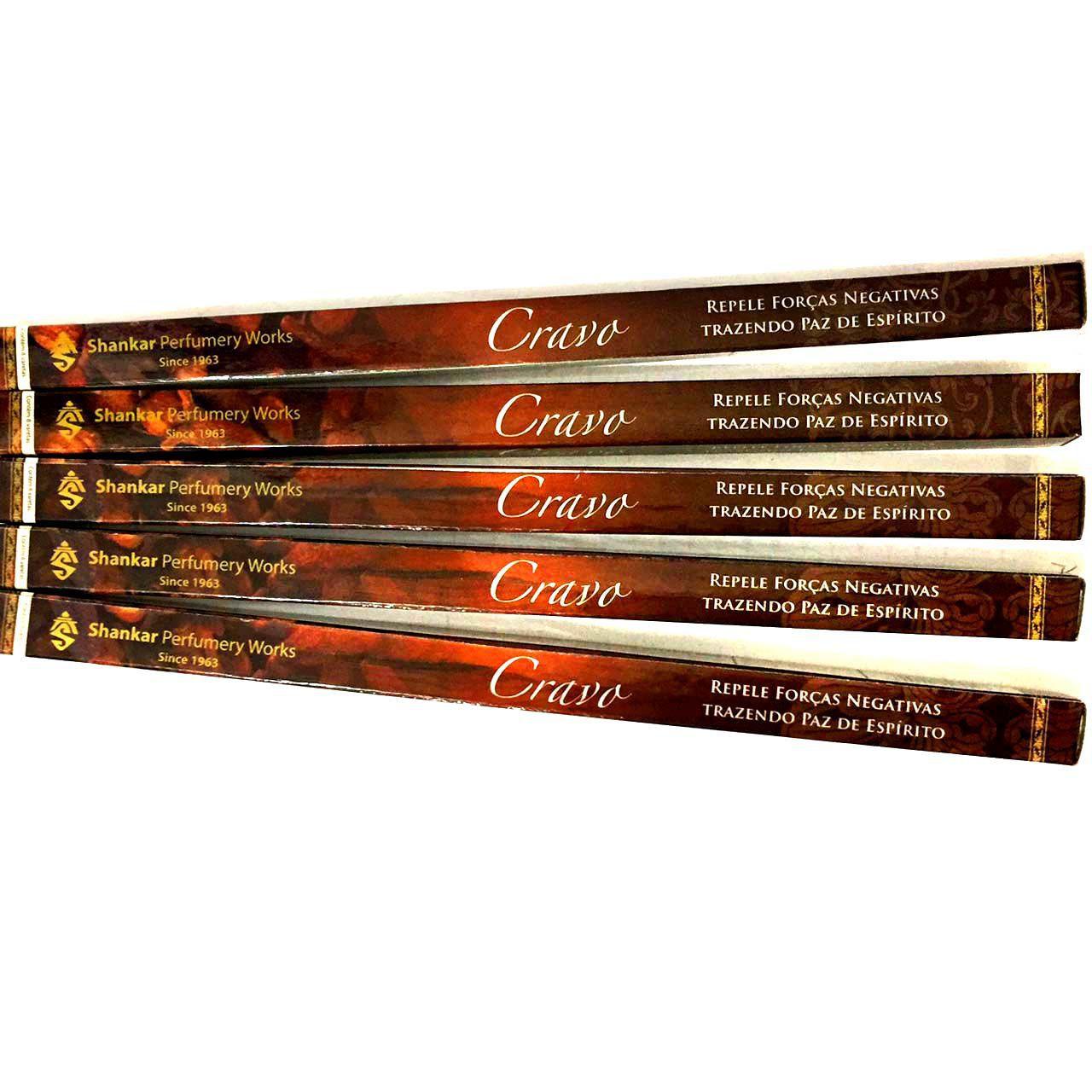 5 caixas de Incensos Shankar Cravo -  40 varetas