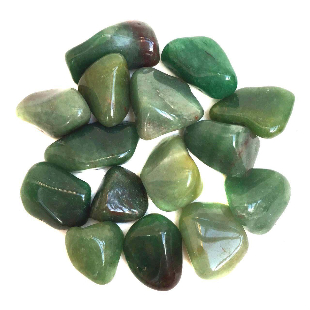 Kit da Cura de Pedra Quartzo Verde Natural Cristais M 100g