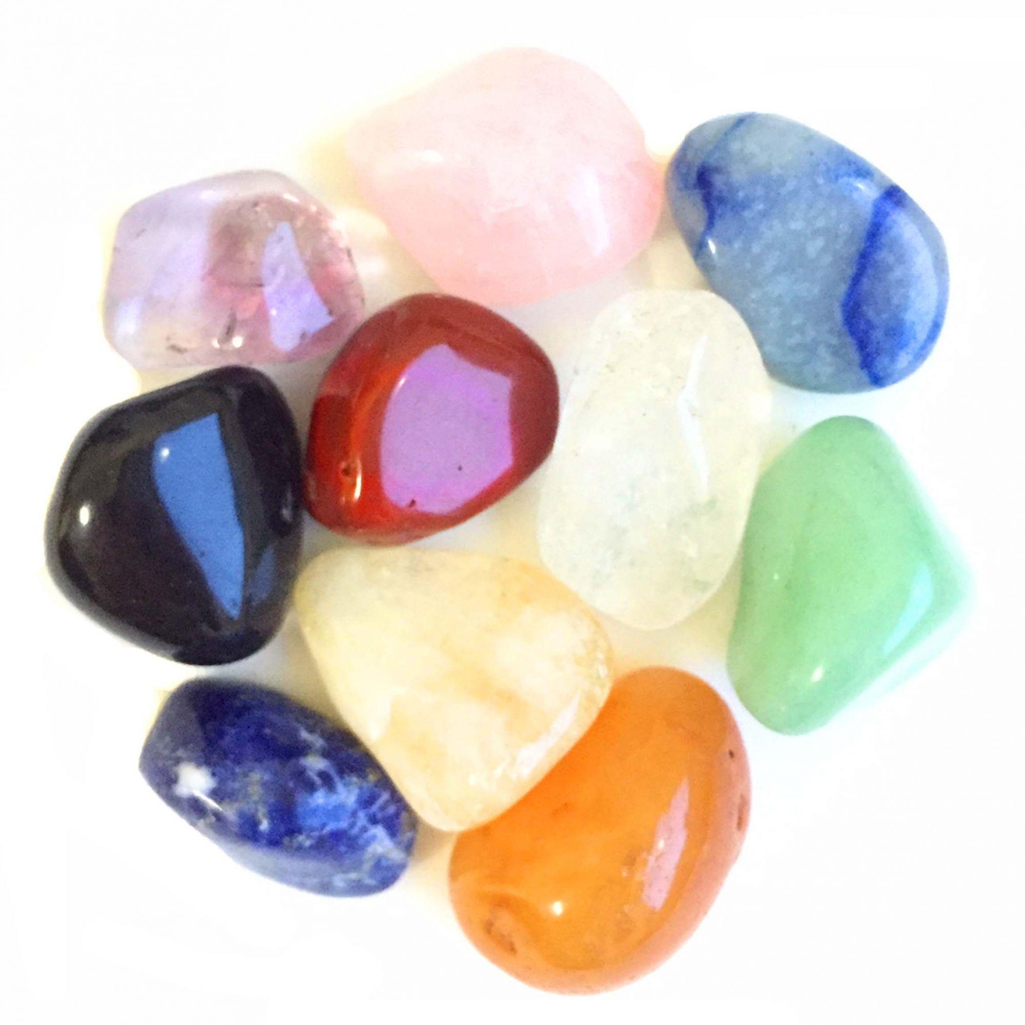 Kit de 10 Pedras Mistas Cristais M