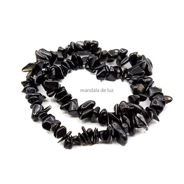 Kit de 2 Pulseiras de Cascalho de Obsidiana Negra
