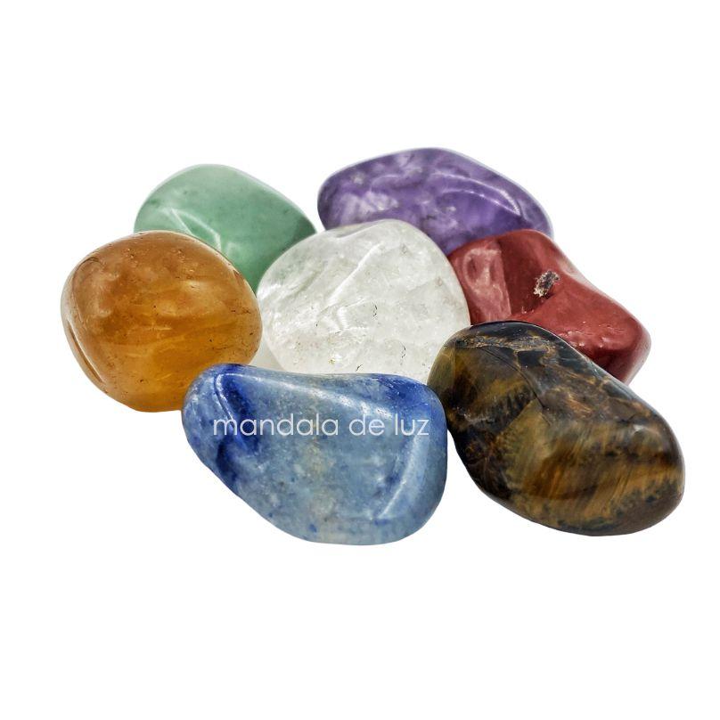 Kit de 7 Pedras Chakras 100% Naturais Cristais Médios