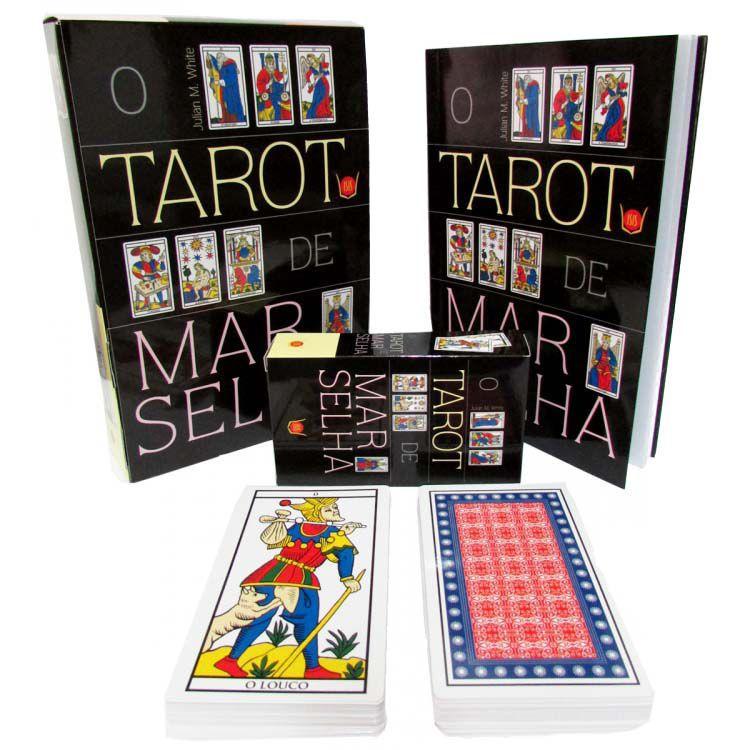 Livro e Tarot de Marselha Baralho 78 Cartas - Julian M White