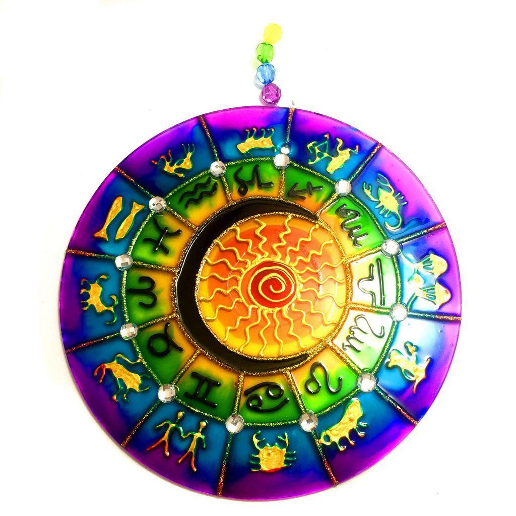 Mandala de Zodíaco Signos 18cm