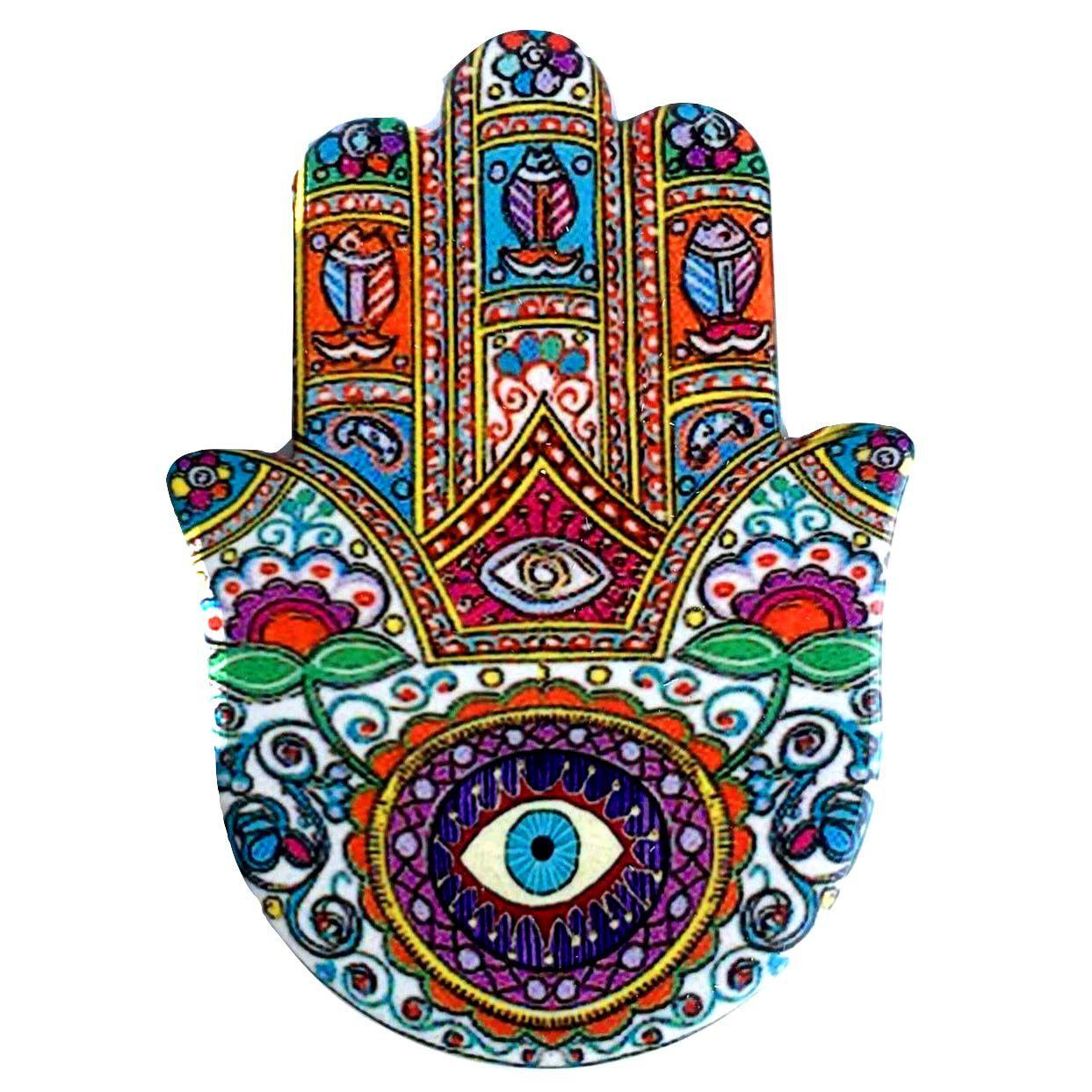 Mão de Hamsá com olho Cerâmica