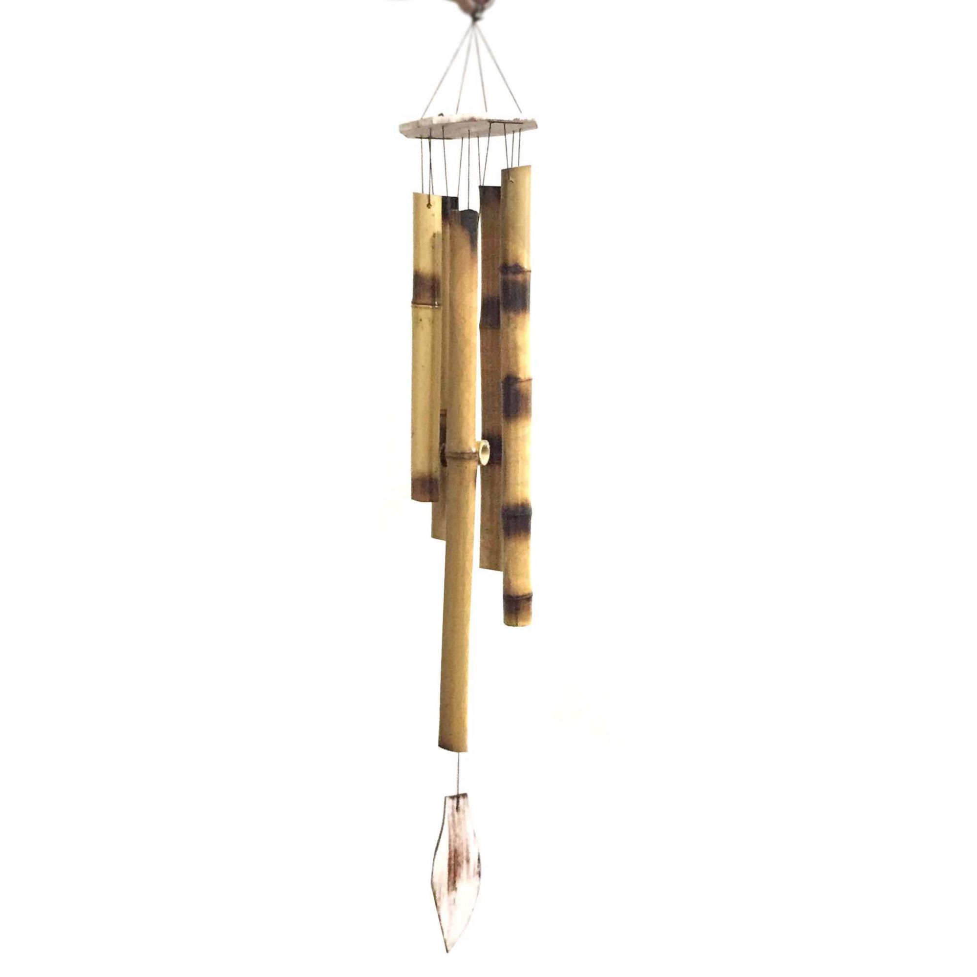 Mobile Grande Sino dos Ventos de Bambu Folha 80cm