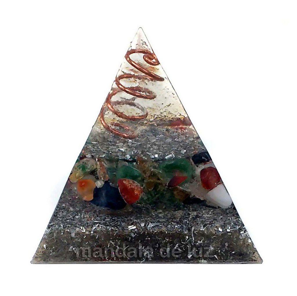 Orgonite Pirâmide Cobre 6cm