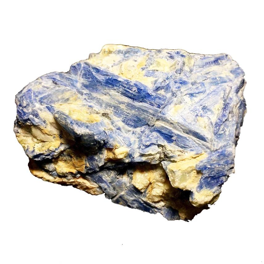 Pedra Natural Cianita Azul Bruta Proteção São Miguel Média