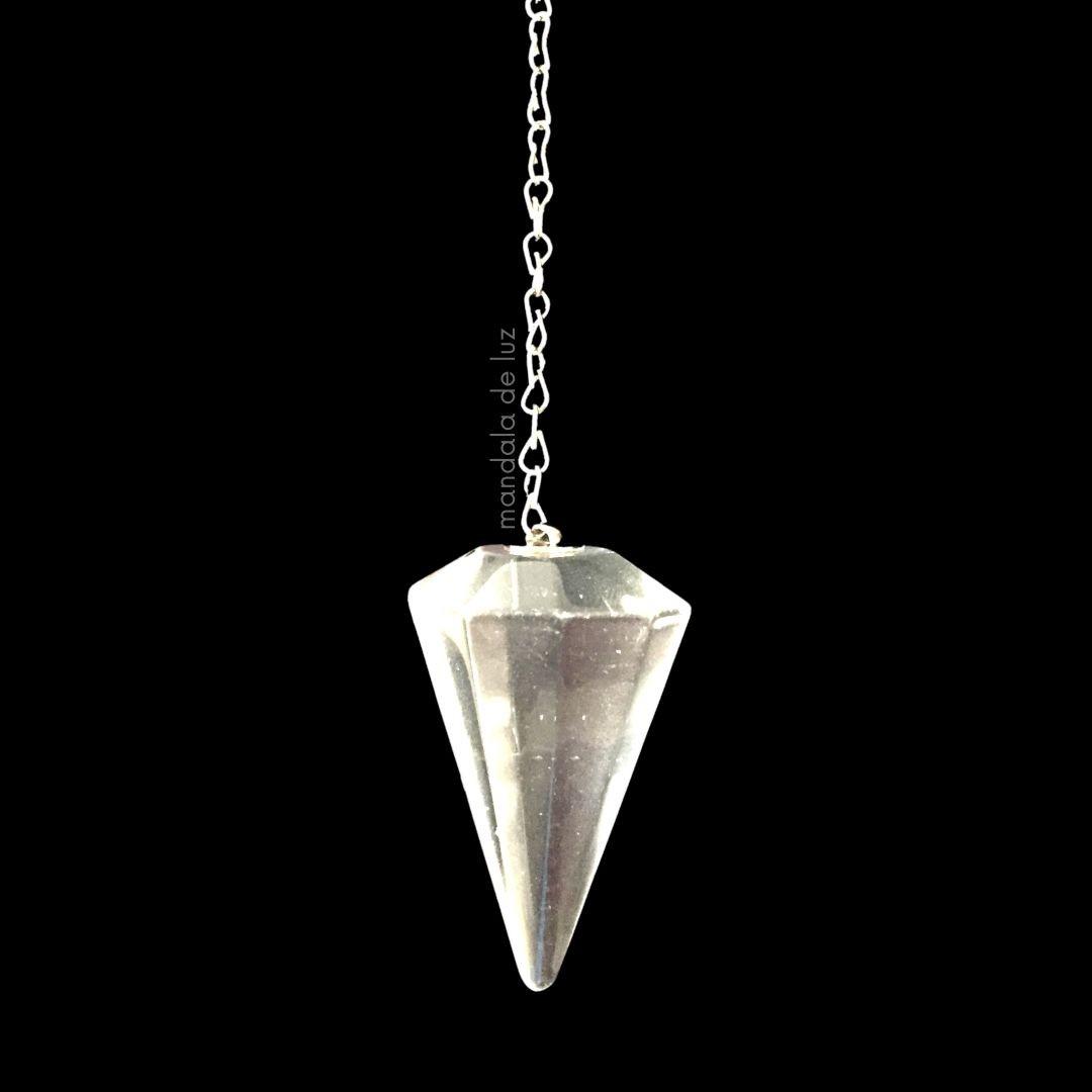 Pêndulo de Cristal de Quartzo Transparente