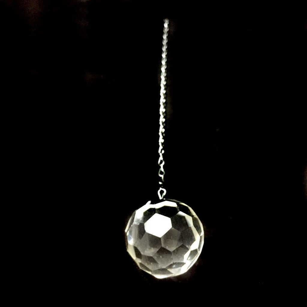 Prisma Esfera Multifacetada de Cristal Quartzo
