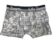 Cueca Boxer Estampada Algodão-Life Zoom-Ref:06