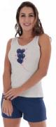 Pijama de Verão Short Dool Regata Bordado Canelado  Victory - Ref 22002