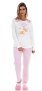 Pijama Feminino De Inverno Canelado - Victory Ref: 21100